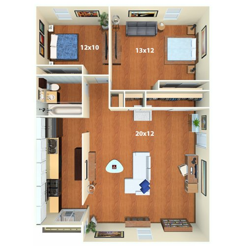 Waverly Apartments   2 Bed / 1 Bath   The Kenmore